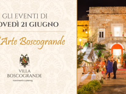 Vill'Arte Boscogrande – gli eventi del 21 giugno